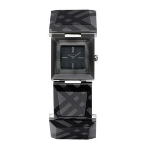 Authentic Burberry Prism Black Resin Check Watch